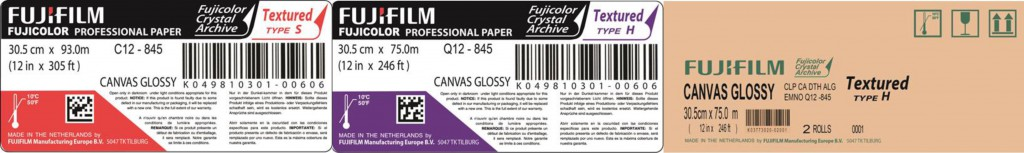 Fujicolor Crystal Archive Professional Textured Paper - Canvas