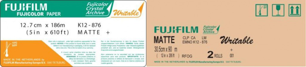 Fujicolor Crystal Archive Writable Paper